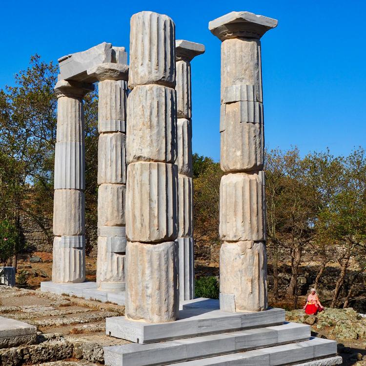 Foto von Säulen in Samothrake - Griechenland